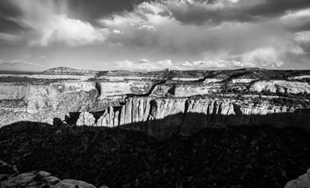 Shadows on a canyon in Colorado National monument. Stok Fotoğraf