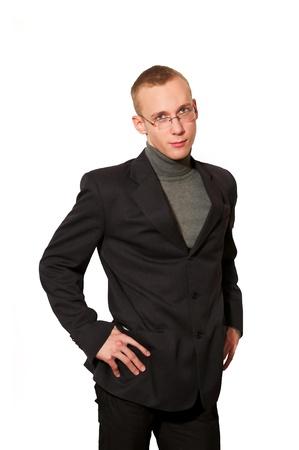 Hombre joven con traje