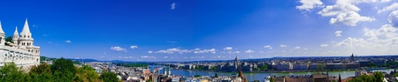 Panoramic view of Buda part of Budapest from Fisherman