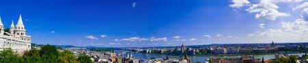 buda: Vue panoramique de Buda partie de Budapest du P�cheur Banque d'images