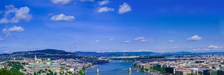 Budapest panorama with Danube river from Gelert hill