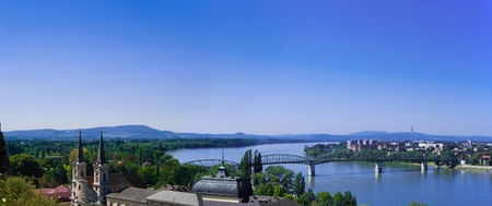The Danube curve  - view from hilltop at Esztergom, Hungary Stock Photo - 10587556