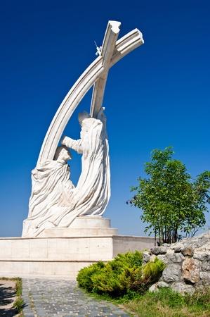 estatua de la coronación de San Esteban (Istvan) el primer rey de Hungría