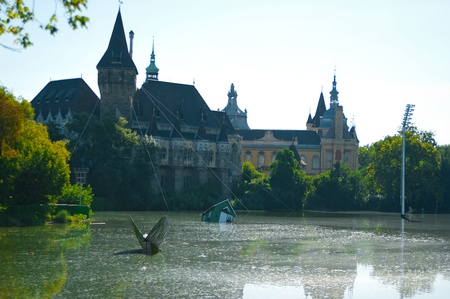 citypark: The Vajdahunyad Castle in Budapest in the citypark, Hungary