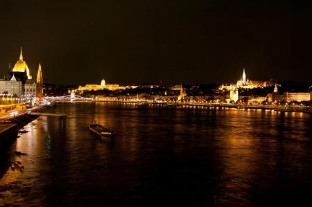 Ver detalles de la noche panorama Budapest Hungría