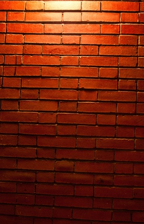 Red Brick Wall Texture with a light from top downward