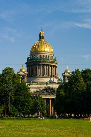 Saint Isaacs Cathedral in St. Petersburg, Russia photo