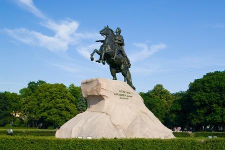 uomo a cavallo: Il Cavaliere di bronzo - Pietro I monumento a San Pietroburgo, Russia