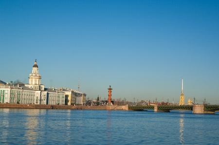 Universidad de terrapl�n en Vasilevsky Island. San Petersburgo. Rusia
