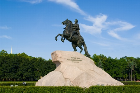 The Bronze Horseman - Peter I monument in Saint-Petersburg, Russia Stock Photo - 12368725
