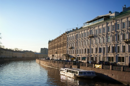 Old channel in the center of Saint-Petersburg, Russia photo