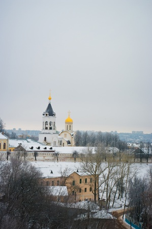 Church in Vladimir - City of the Golden Ring of Russia. Winter lanscape photo
