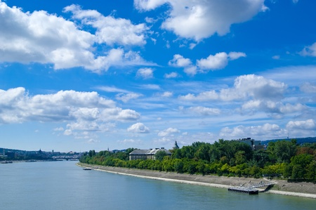 Budapest city view at Margaret Island, Hungary photo