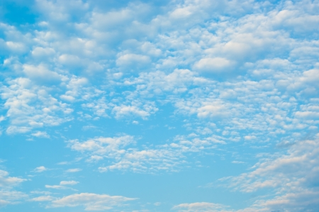 blue summer sky with light small clouds Stock Photo