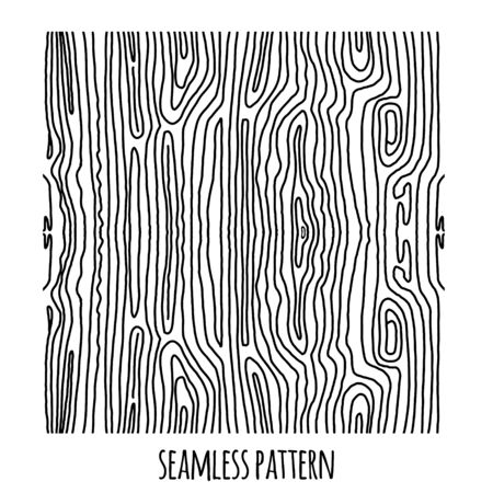 Doodle lines pattern seamless simulating a tree and curved lines of mazes. Seamless abstract hand-drawn pattern. Black on white. Vector illustration for printing on fabric, clothing, furniture fabric