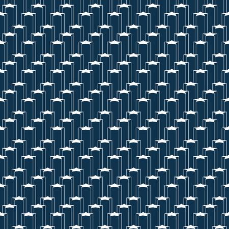Pattern star background texture geometric dark blue and white