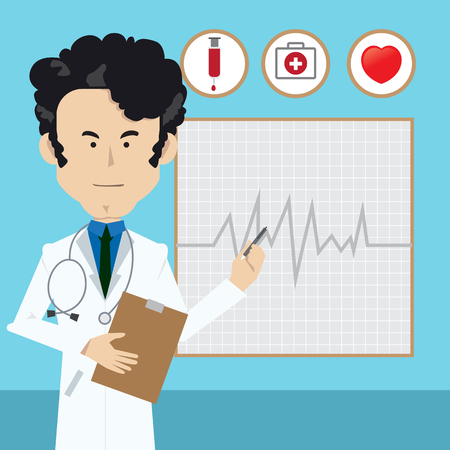 trainee: Professional doctor man background.