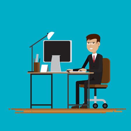 Business People in room,Vector illustration Illustration