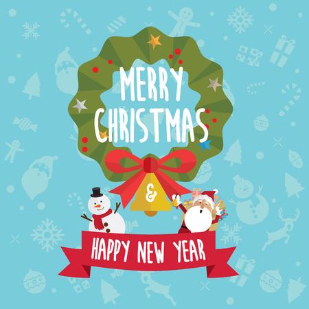 Kerstmis en gelukkig Nieuwjaar pictogram vector Stockfoto - 88031276