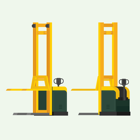 Electric fork lifter. illustration vector