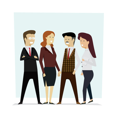 Group business people teamwork,Vector illustration cartoon character.