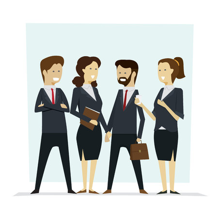 Group business people teamwork and successful, Vector illustration cartoon character. Ilustração