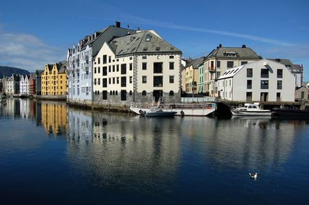 alesund: the town of Alesund, Norway, on a summer day Stock Photo