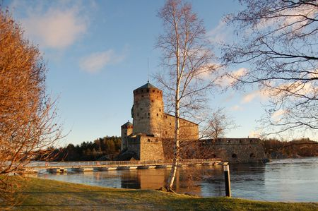 Olavinlinna, medieval castle in Savonlinna, Finland photo