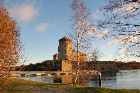 heritage protection: Olavinlinna, medieval castle in Savonlinna, Finland
