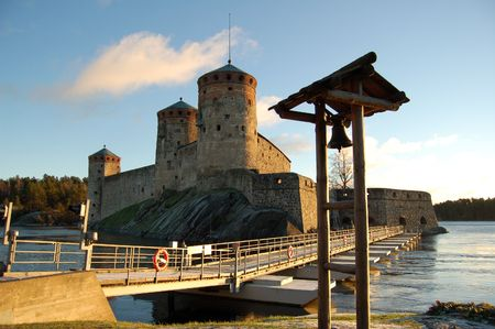 Olavinlinna, medieval castle in Savonlinna, Finland Stock Photo - 3748824