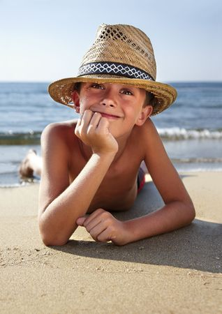 Young boy at beach