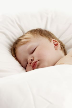 Baby sleeping in bed Stock Photo - 7149424