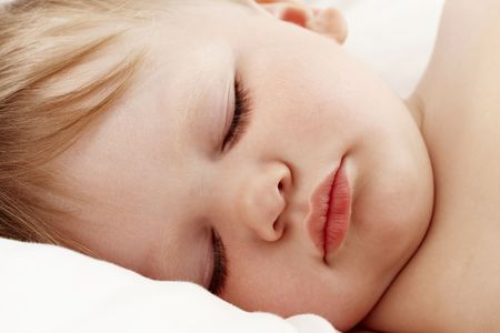 Baby sleeping closeup Stock Photo - 7149380