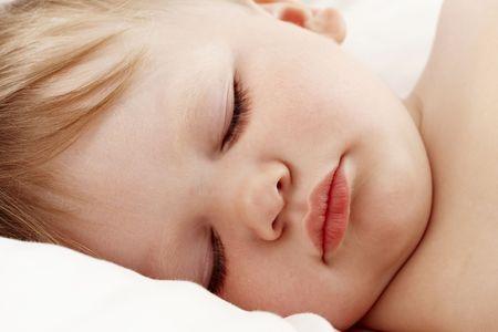 Baby sleeping closeup