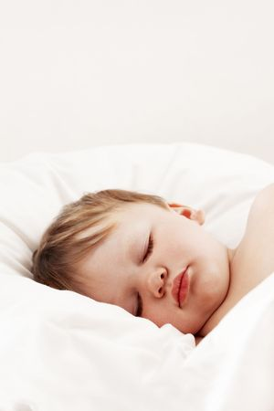 Baby sleeping in bed Stock Photo - 7149401