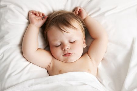 Baby sleeping in bed Stock Photo - 7149406