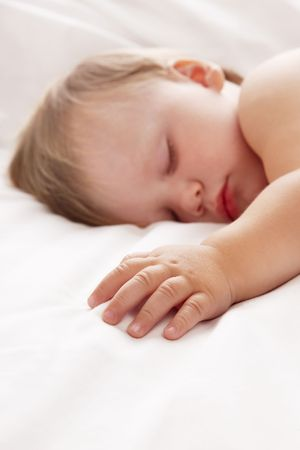 Baby sleeping photo
