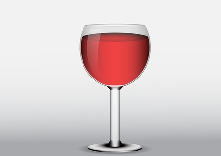 Full glass of red wine Vector