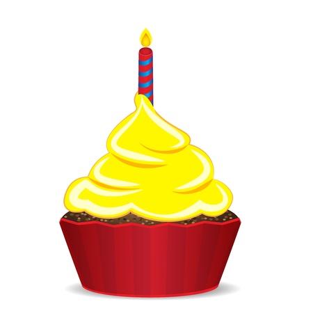 vanilla pudding: Cumplea�os de la magdalena Vectores