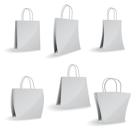 Set of vector paper bags Isolated on white background Stock Vector - 14172188