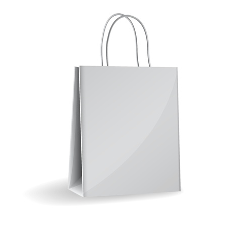 Vector illustration of gray paper bag Vector
