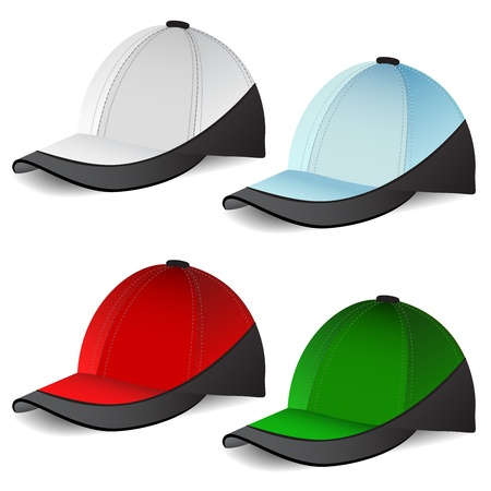 Set of Baseball caps Stock Vector - 14234355