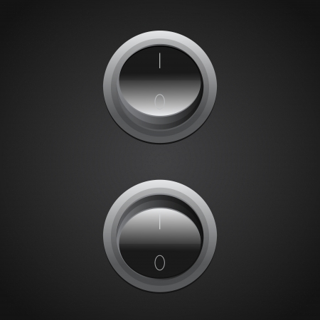circle toggle power switches