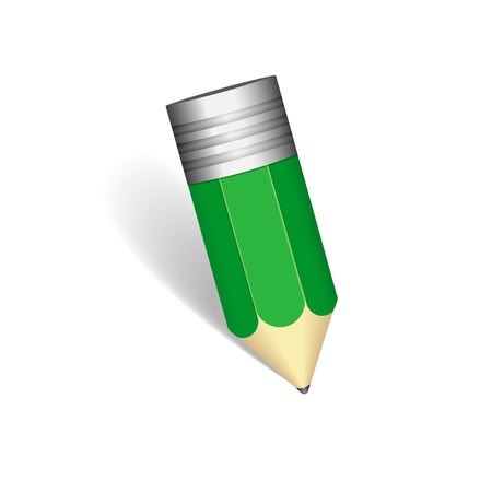 Vector lead pencil on white background Vector