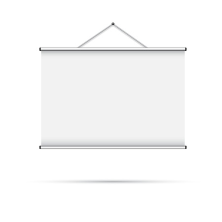 Blank roll-up poster vector illustration