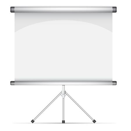 Blank roll up poster illustration