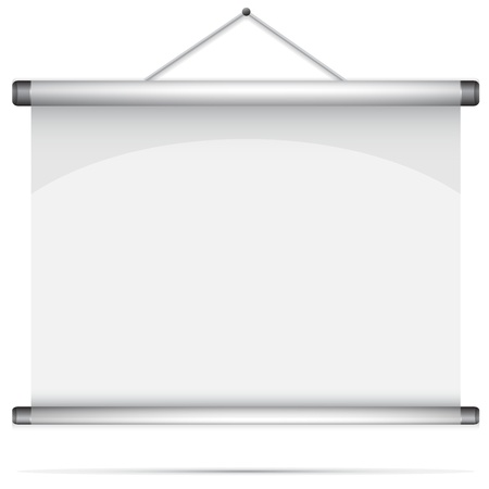 rollup: Blank roll-up poster illustration