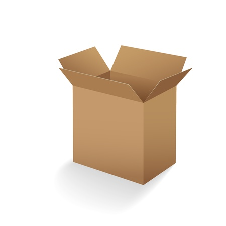 open empty cardboard box vector illustration Stock Vector - 14485870