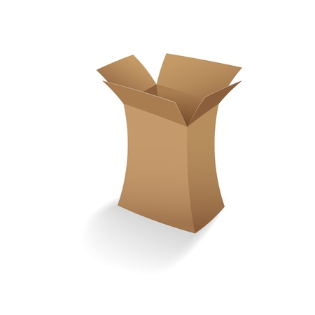 open empty cardboard box vector illustration Stock Vector - 14485873