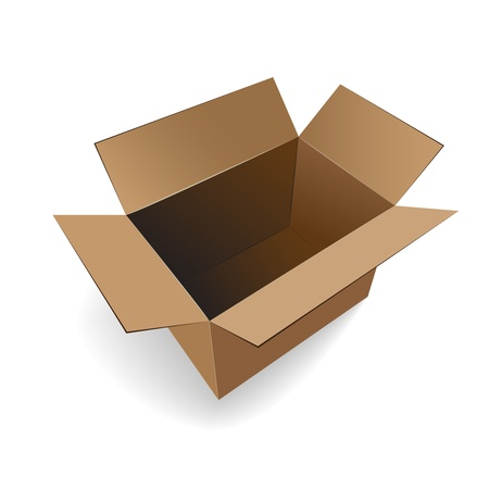 open empty cardboard box vector illustration Stock Vector - 14485872